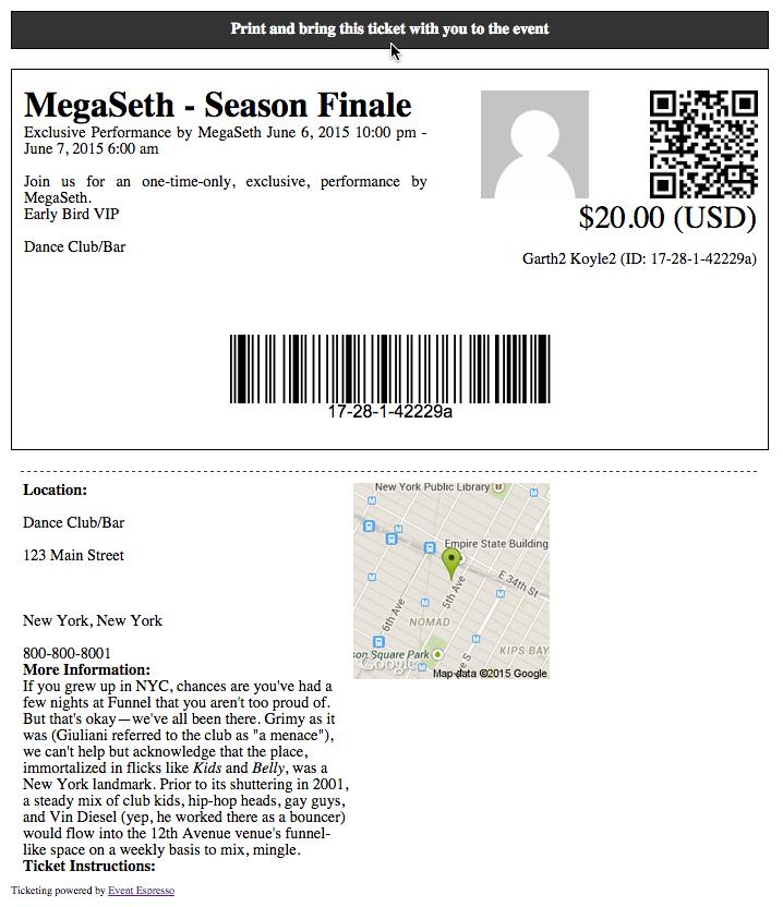 concert Basic Ticket