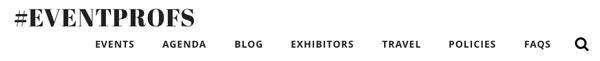 Business conference online registration ticketing website menu page
