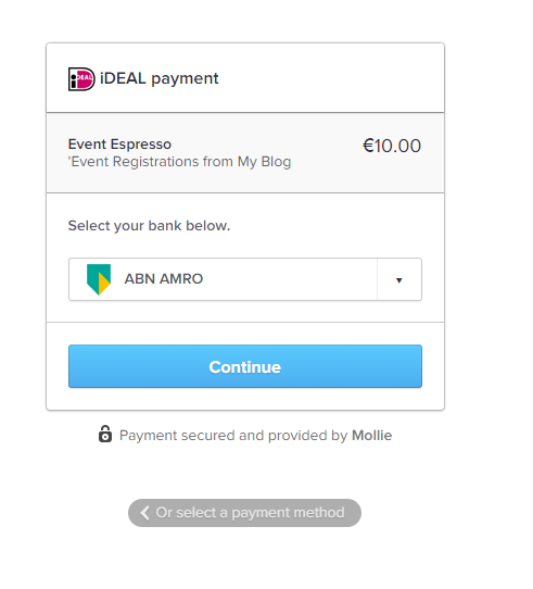 iDeal Mollie Payment Gateway Event Smart