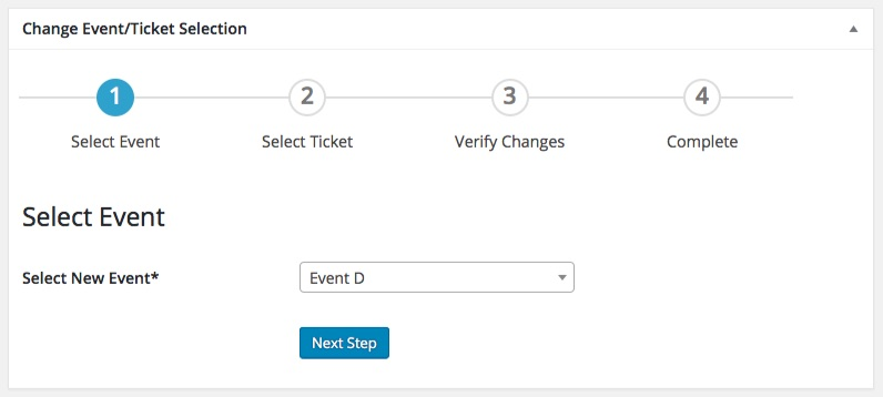 move attendees between events or change their registration selection