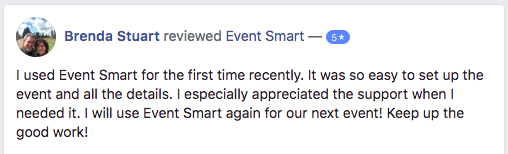 I used Event Smart for the first time recently.