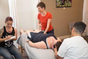 Myofascial massage demonstration