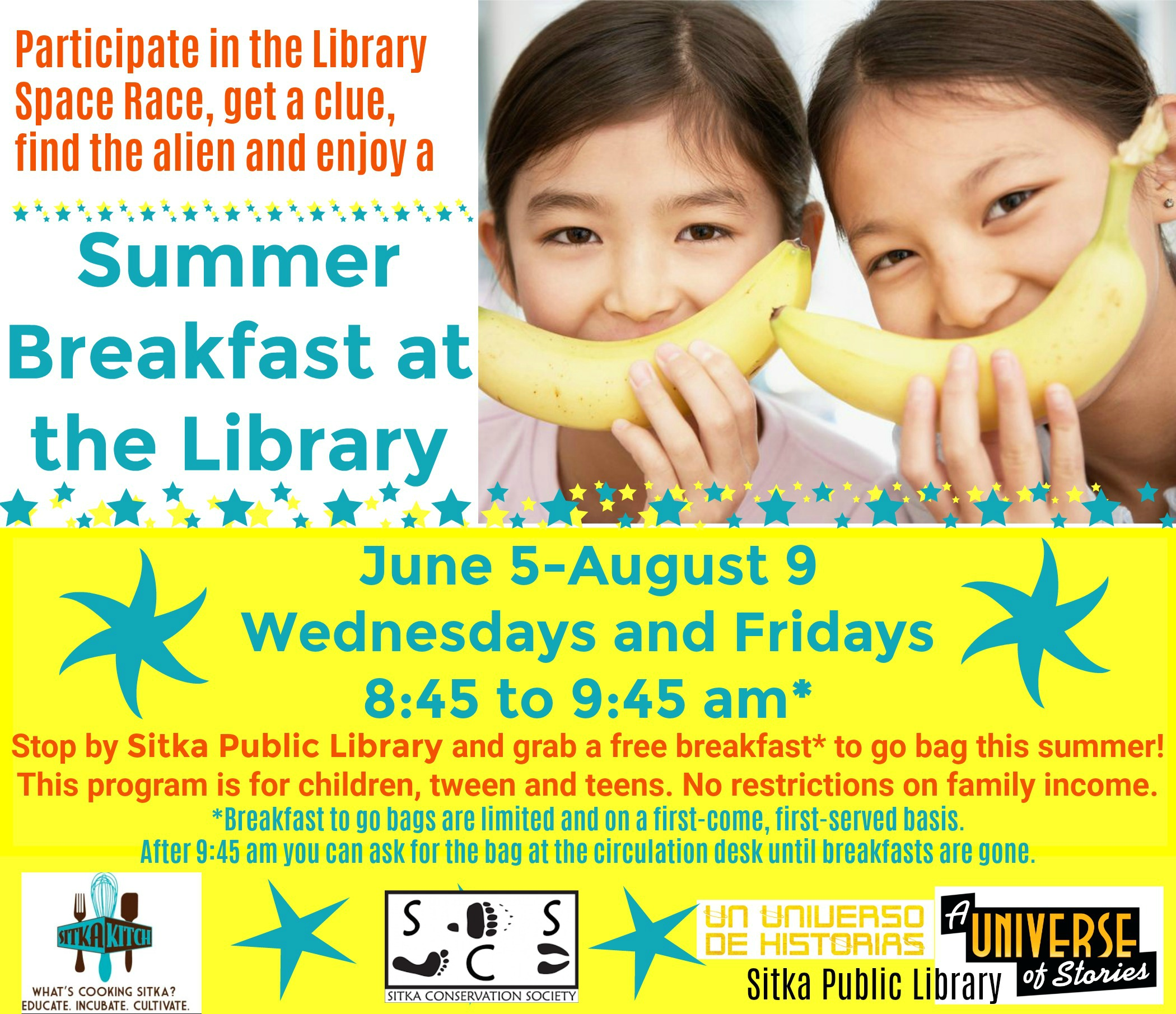 Donate to help support the 2019 Summer Breakfast Program - Sitka Kitch