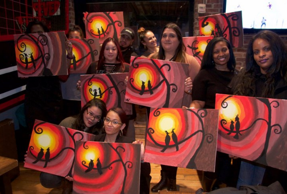 sip and paint with mercedes at dc speak easy tickets thu
