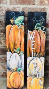Natalie S Paint Event Pumpkin Porch Sign 2 Sisters Paint