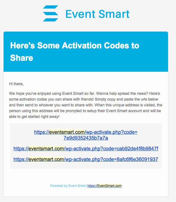 Share Event Smart Invitation Codes