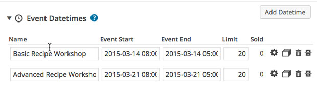 Create multiple occurrences of one event