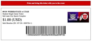 Moderately customized ticket