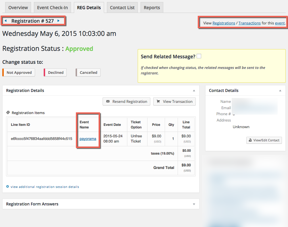 online event registration ticketing UI event smart