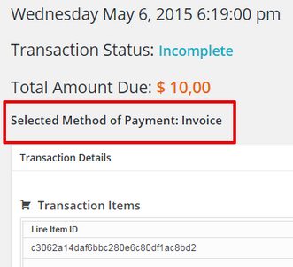 Event Smart Payment Method Transaction Details