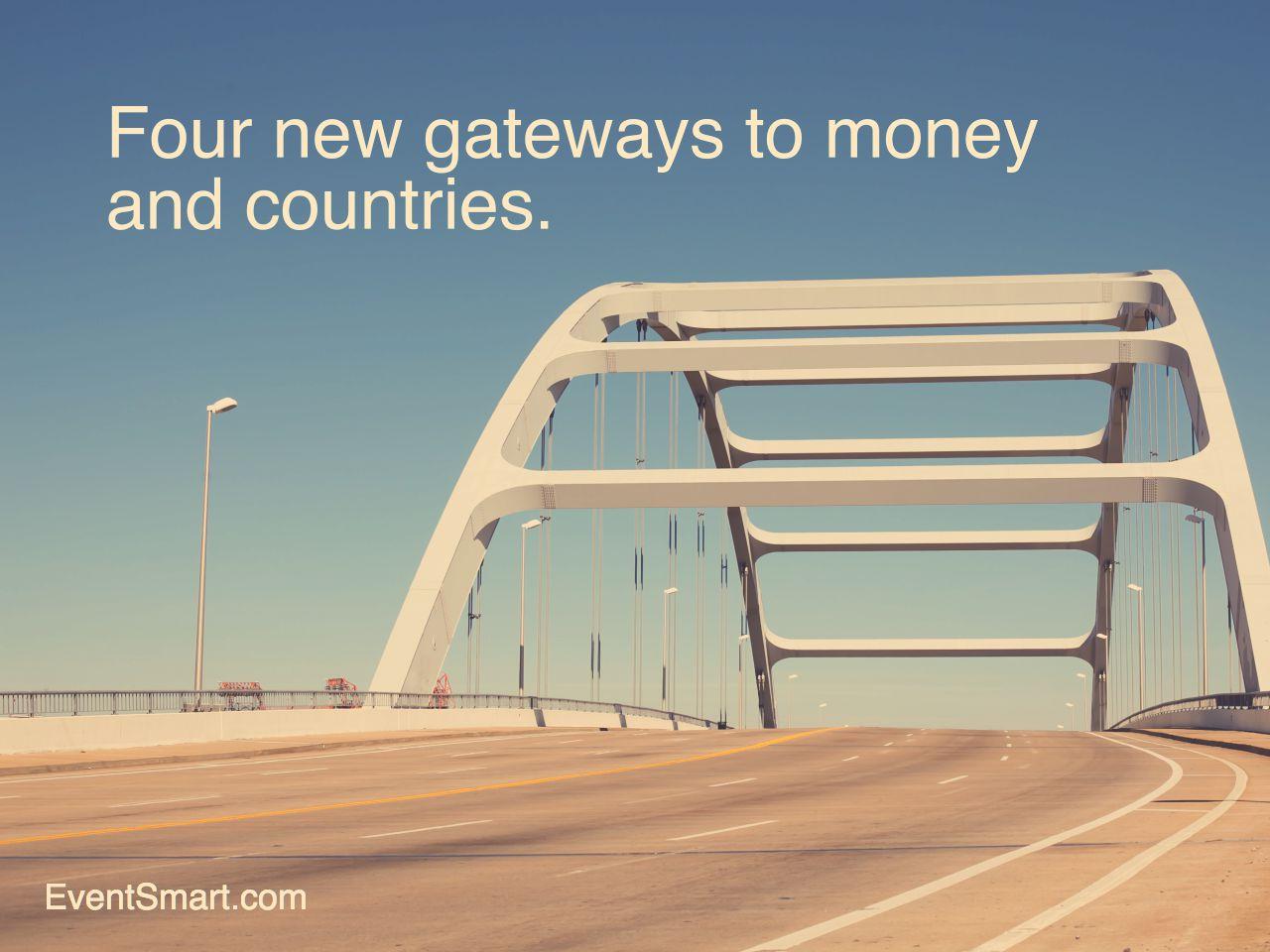 Four online payment gateways money countries