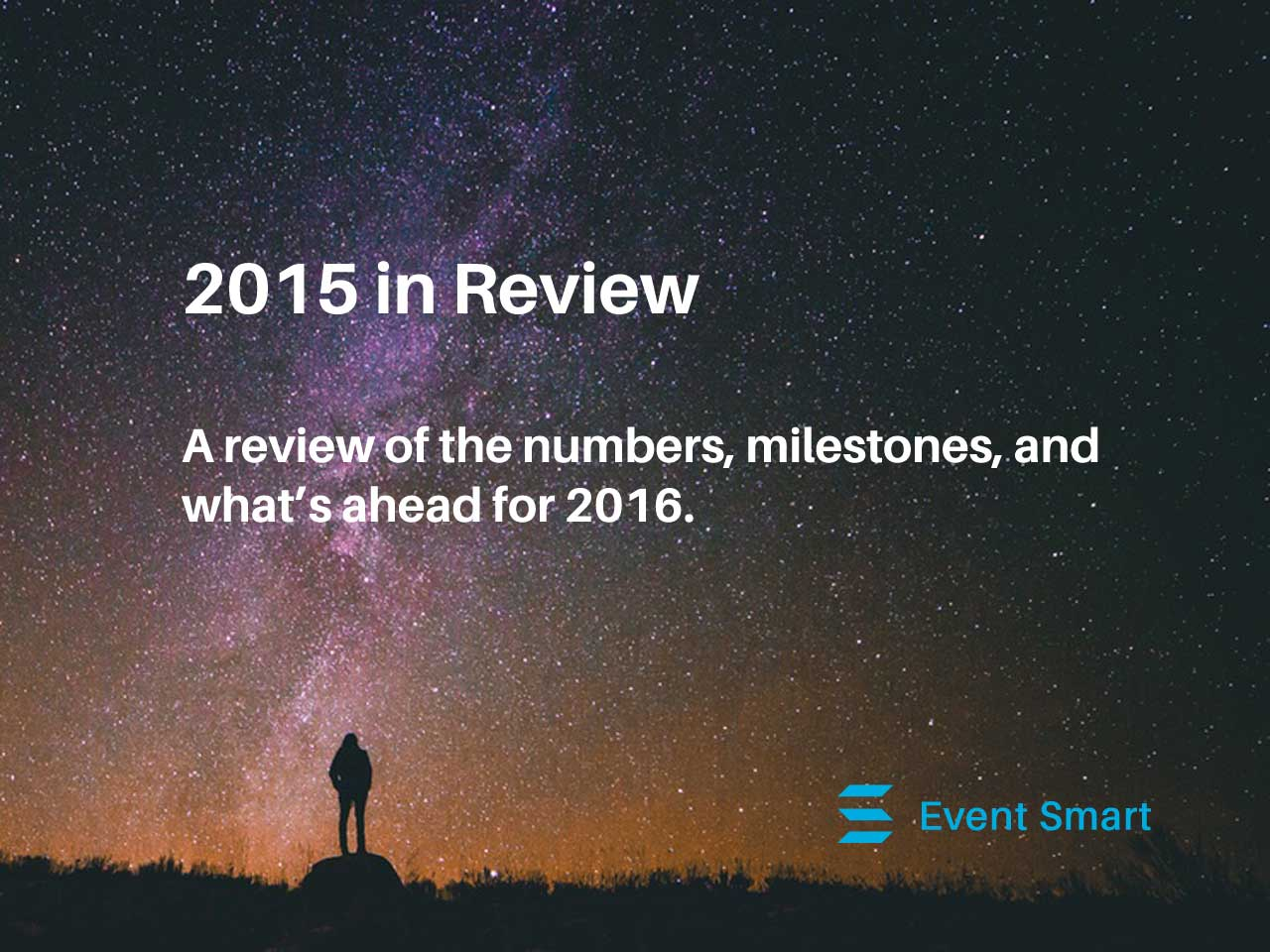 2015 Event Smart review of the numbers, milestones and what is coming in 2016.