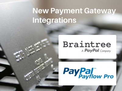 Braintree & PayPal Payflow Pro Payment Gateways Now Available