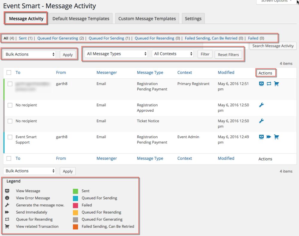 Messages Activity