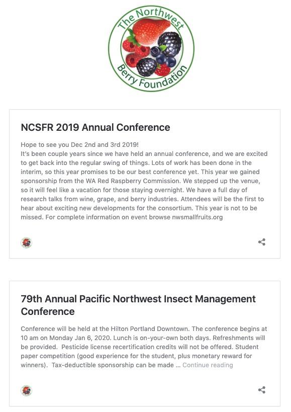 NWBF Event List