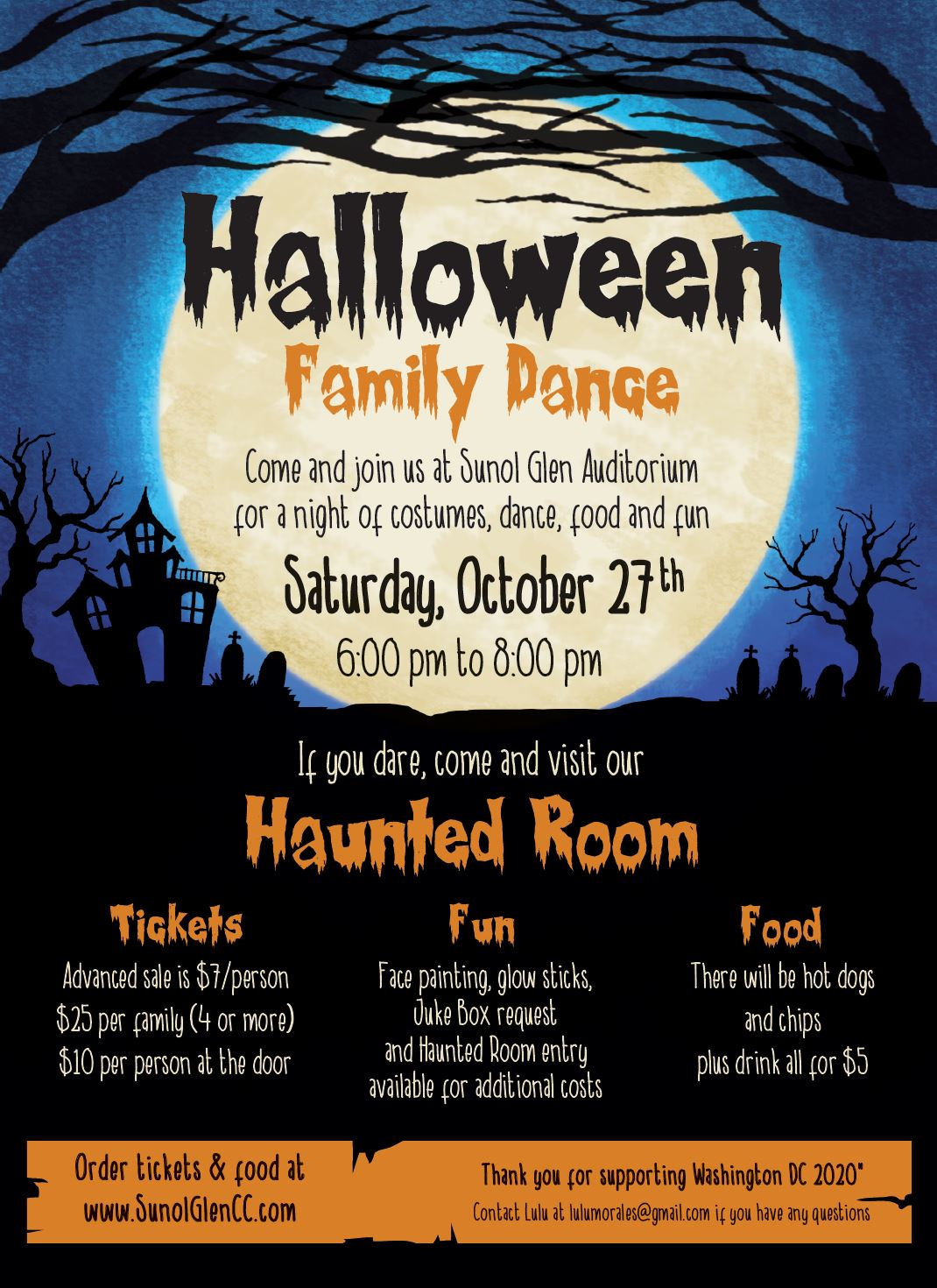 Halloween 2020 Washington Dc Washington DC 2020 Halloween Dance 2018   Sunol Glen School