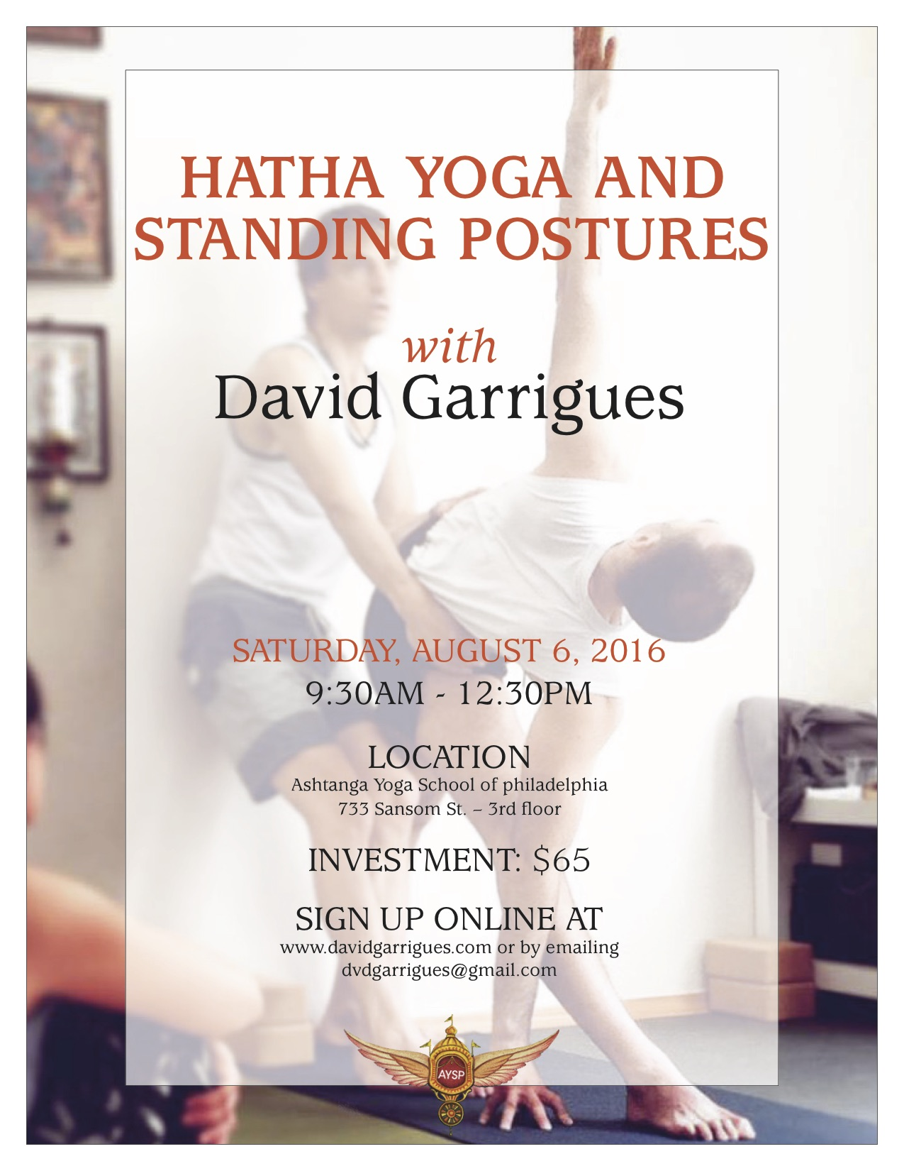Hatha Yoga And Standing Postures David Garrigues
