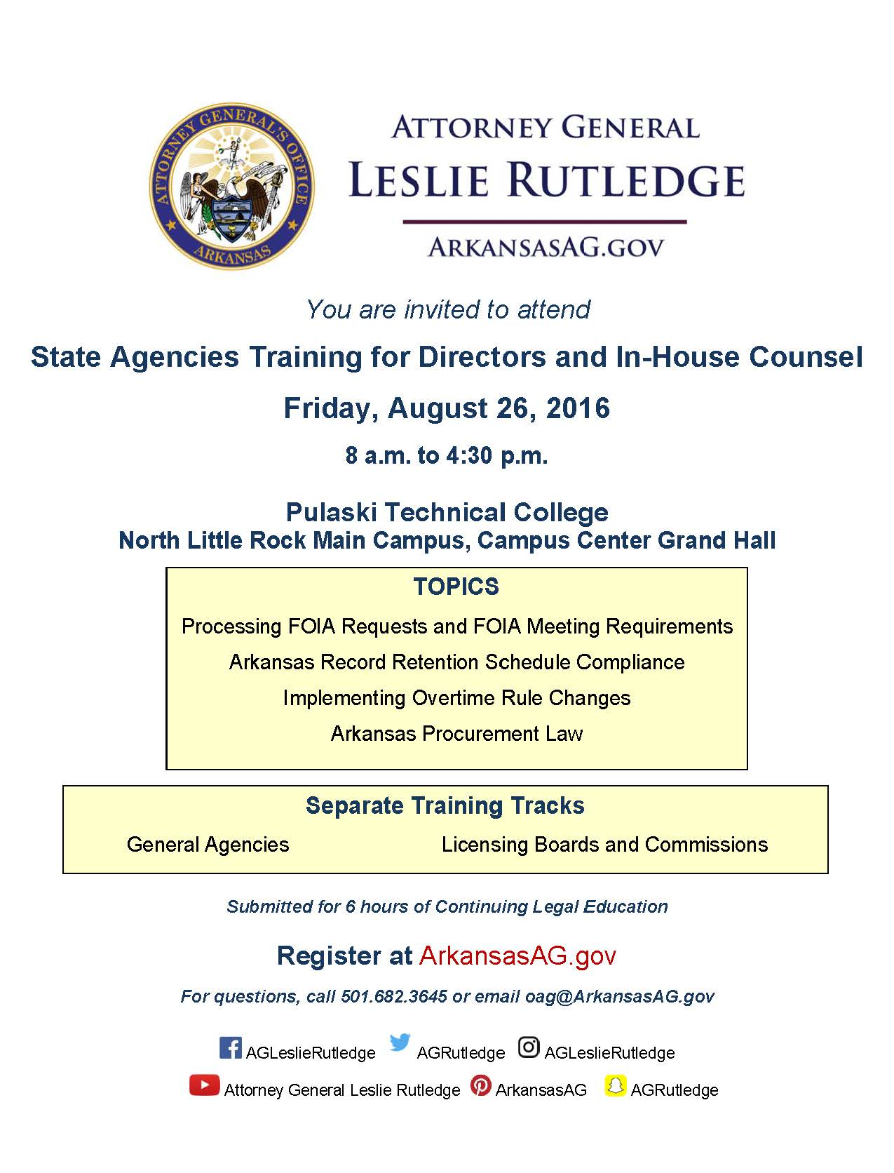 State Agencies Training flier final